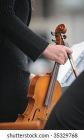 Violin player detail