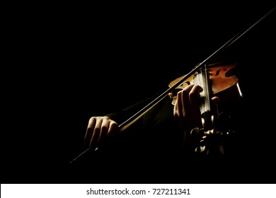 Violin player. Violinist hands violin bow music instrument isolated.