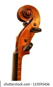 Violin scroll (top)