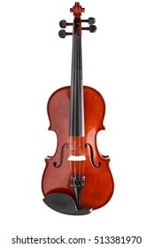 violin vertically on a white background