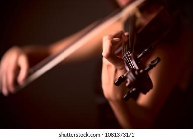Violin  Viola closeup - Orchestra