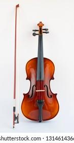 Violin in white background