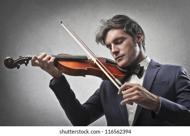 Violinist playing a violin