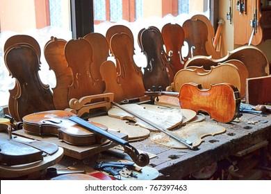 Violins beautiful workshop