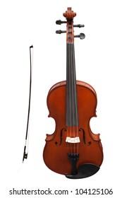 violins under the white background