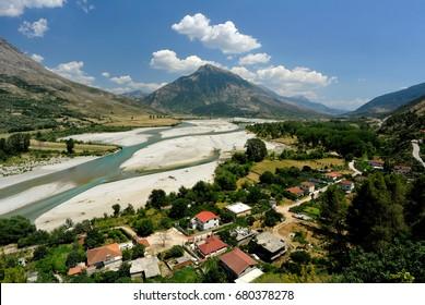 Viosa River, Tepelena, Albania