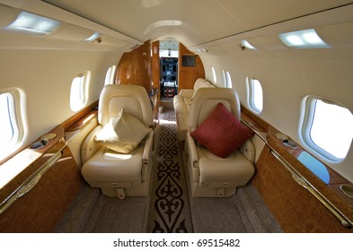 VIP Business Interior Jet Airplane