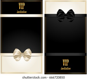 VIP card with gold elements