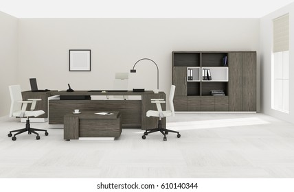 VIP office furniture 3D rendering