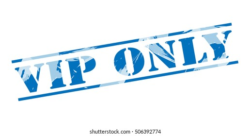 vip only blue stamp on white background