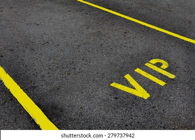 VIP service symbol with a first class reserved parking with a blank area for text.