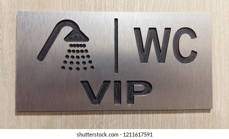 VIP wc and shower sing