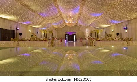 VIP Wedding Hall with lighting