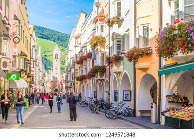 VIPITENO,ITALY - SEPTEMBER 26,2018 - In the streets of Vipiteno. Vipiteno is a comune in South Tyrol in northern Italy