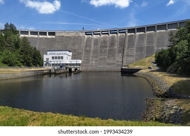 Vir dam as a reservoir of drinking water and hydraulic power plant in the middle of the Czech Republic