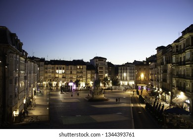 Virgen Blanca Square in Vitoria-Gasteiz, in the province of Alava, in the Basque Country