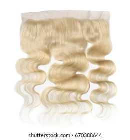 Virgin body wave blonde human hair extensions wide range lace frontal closure