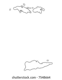 Image Result For Map Of Puerto Rico And Us Virgin Islands