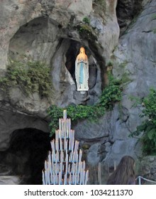 Virgin Mary Lourdes France Basilica de Lourdes Our Lady of Lourd