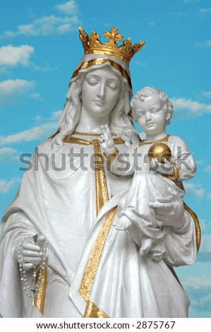 virgin mary mother mary baby jesus stock photo edit now 2875767