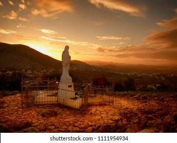 Virgin Mary statue in Medjugorje