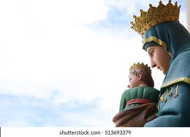 virgin Mary watching
