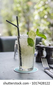 Virgin mojito mocktail on the table