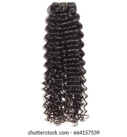 Virgin remy black curly human hair weft extension bundles