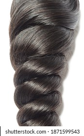 virgin remy spiral loose wavy black human hair weaves extensions bundles
