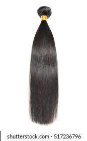 Virgin remy straight long black human hair weave extensions bundles