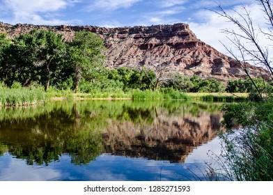Virgin River near Grafton ghost town, Utah, USA.