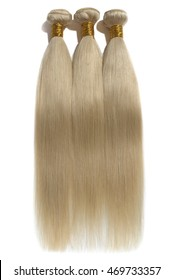 virgin silky straight blonde human hair  extensions