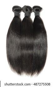 Virgin straight black permed kinky coarse afro human hair extensions