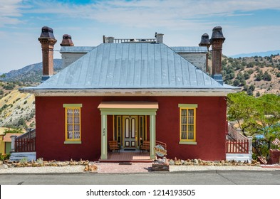 Virgina City, Nevada /USA - August 16, 2013:The Chollar mansion was built between 1861 and 1863 as the head office of the Chollar Mine and the residence of the mine superintendent.