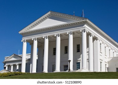 Virginia Capitol State House building is located in Richmond, VA, USA.