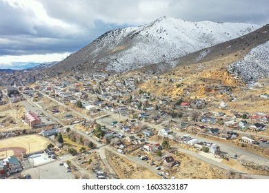 Virginia City, Nevada - January 2020: Virginia City Nevada, site of the Comstock Lode, today remains a small town with an economy centered on tourism.