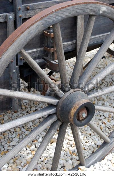 Virginia City Nevada Vintage Wagon wheel