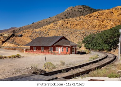 Virginia City/Nevada/USA -  May 9, 2015: Historic Old West Victorian from Virginia City, Nevada