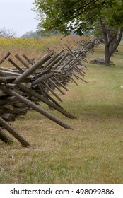 Virginia rail fence at Gettysburg battlefield