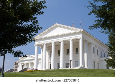 Virginia state capital, located in Richmond, VA, USA, sit high on a hill overlooking the city.