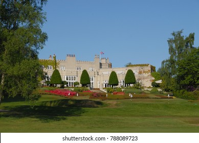 Virginia Water, United Kingdom - May 24, 2015: Clubhouse of Wentworth Club