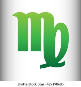 Virgo sign. Green gradient icon