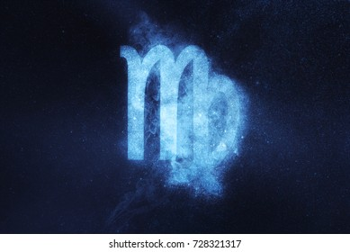Virgo Zodiac Sign. Abstract night sky background