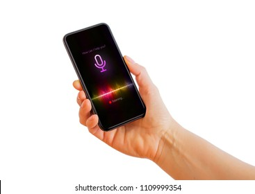 Virtual assistant technology used on mobile phone.