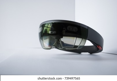 virtual reality glasses isolated