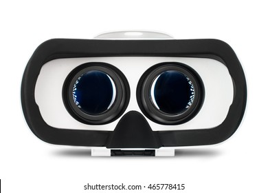 Virtual reality glasses, VR goggles for simulation immersive multimedia, isolated on white background.