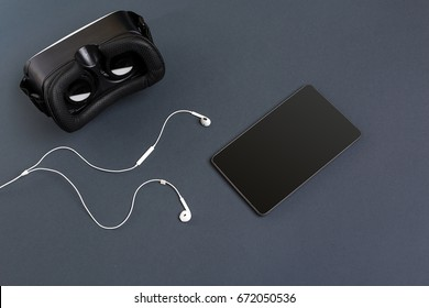 Virtual reality headset. Top view