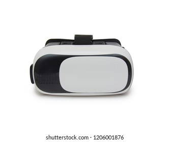 Virtual reality helmet isolated on the white background
