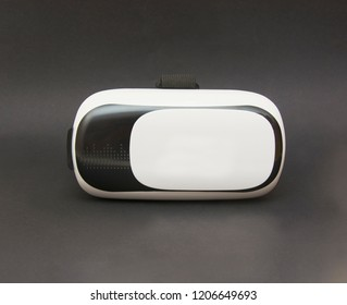 Virtual reality helmet isolated on the black background