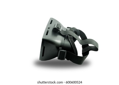 Virtual reality helmet isolated on white background., This has clipping path.